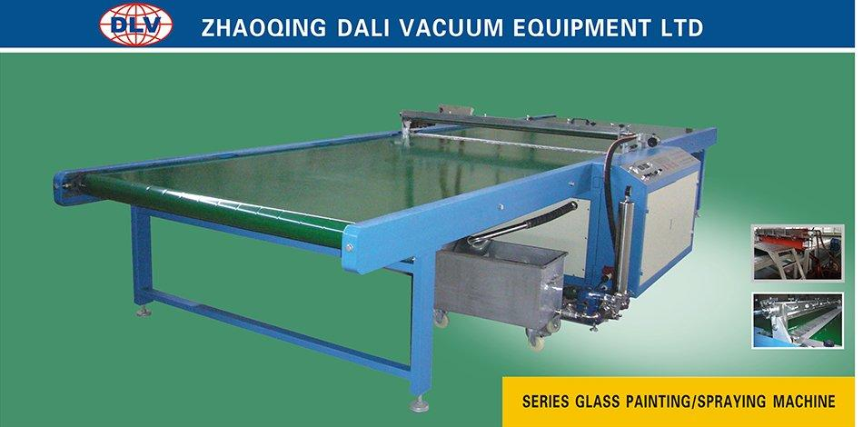 Dali spray on glass coating machine horizontal painting