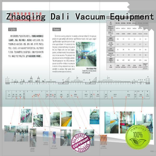 Dali Brand grade production custom mirror coating for glass